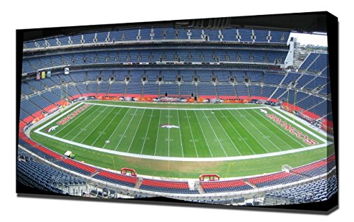 Lilarama USA Denver Broncos Invesco Field Stadium 2 - Canvas Art Print - Wall Art - Canvas Wrap
