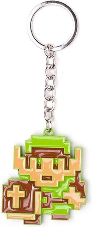 Bioworld Bio Ke016705zel Nintendo Legend Of Zelda 8 Bit Link Pendant Metal Keychain One Size Multicolour 16 Cm