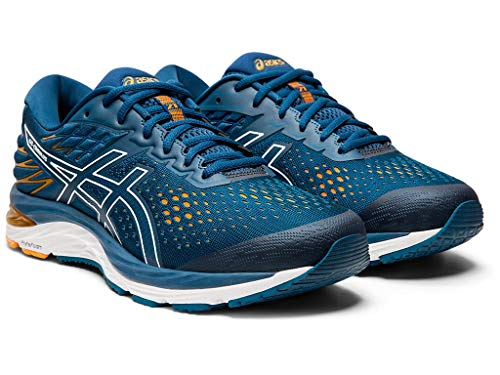 ASICS Men's Gel-Cumulus 21 Running Shoes, 6M, MAKO Blue/White