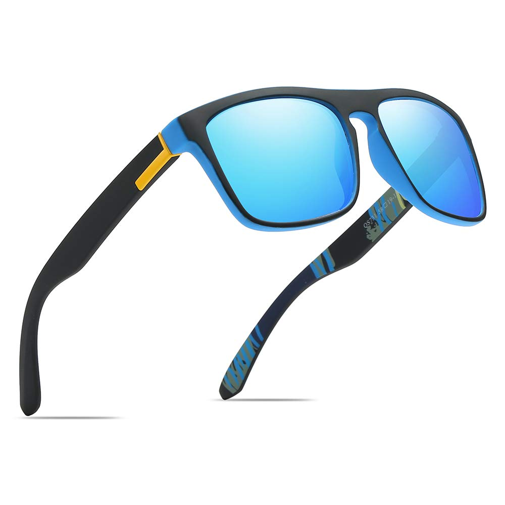 Polarized Sports Sunglasses Driving Glasses Shades for Men/Women Square Sun glasses Classic Design Mirror Sunglasses