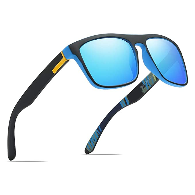 17a579d00df Polarized Sports Sunglasses Driving Glasses Shades for Men Square Box Sun  glasses Guy s Classic Design All