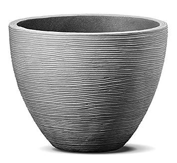 Favorit Spetebo Blumenkübel im Rillen Design - 39,5 x 31 cm - Kunststoff UZ96