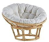 IRA Needles Solid Papasan Chair Cushion - Folding