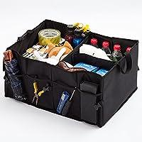 Wuyue Hua Multipurpose Car Boot Organiser Foldable Trunk Storage Box Organiser for Car, SUV, Van, and Truck,Durable Oxford Fabric Black