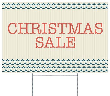 cgsignlab christmas sale nautical wave double sided corrugated plastic yard sign with wire - Amazon Christmas Sale