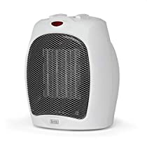 BLACK+DECKER BHDC500W46 Desktop Heater, Small, White