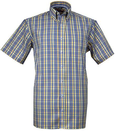 Eterna Herren Freizeit-Hemd Mehrfarbig Yellow.Blue,White One size