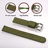 Torbollo Quick Release Watch Green Bands, 18mm