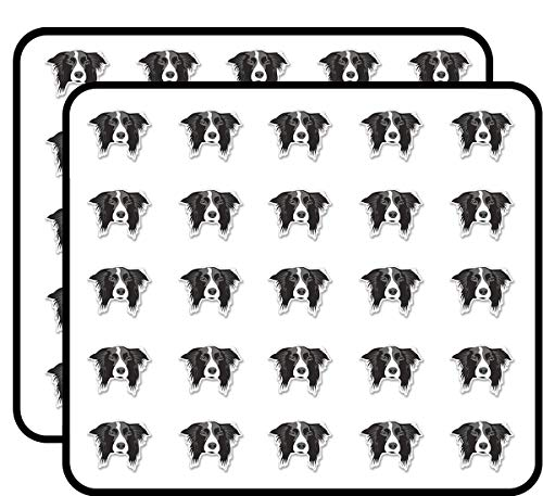 (Border Collie Dog Sticker for Scrapbooking, Calendars, Arts, Kids DIY Crafts, Album, Bullet Journals 50 Pack)