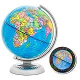 Illuminated World Globe - Multicolor With LED Lights (8 inch)