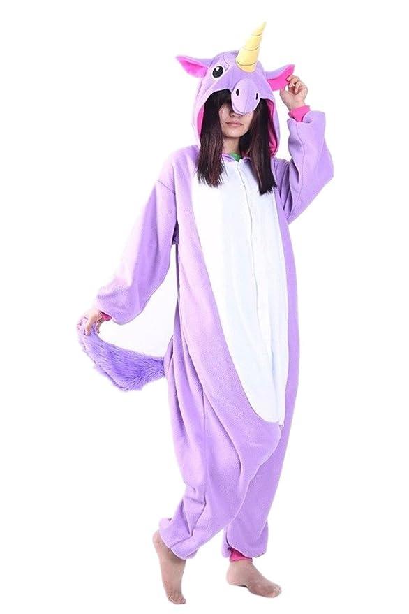 wotogold Animal Traje De Cosplay Unicornio Púrpura Onesies Onesies Hombre Mujer Unisex Piyama adultos Pijamas