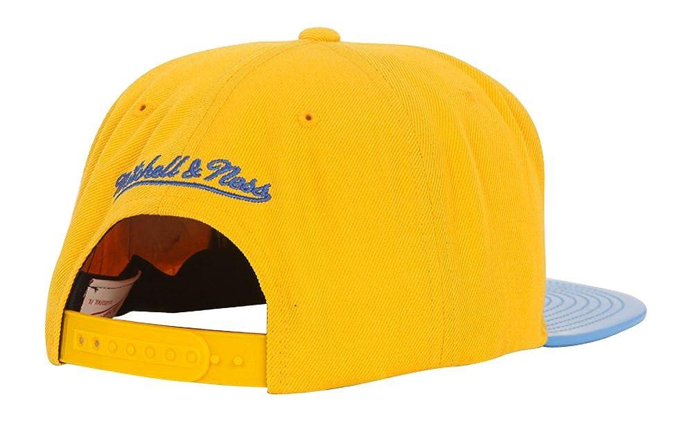 Mitchell /& Ness San Francisco Warriors Patent 2T Tonal Snapback Gold//Blue