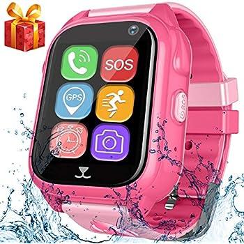 Amazon.com: Kids GPS Tracker Smart Watch for Girls Pink Anti ...