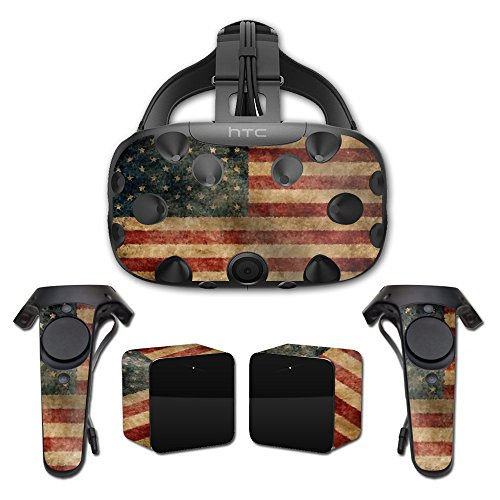 MightySkins Skin For HTC Vive Full Coverage - Vintage Flag | Protective, Durable, and Unique Vinyl Decal wrap cover | Easy To Apply, Remove, and Change Styles | Made in the USA by MightySkins