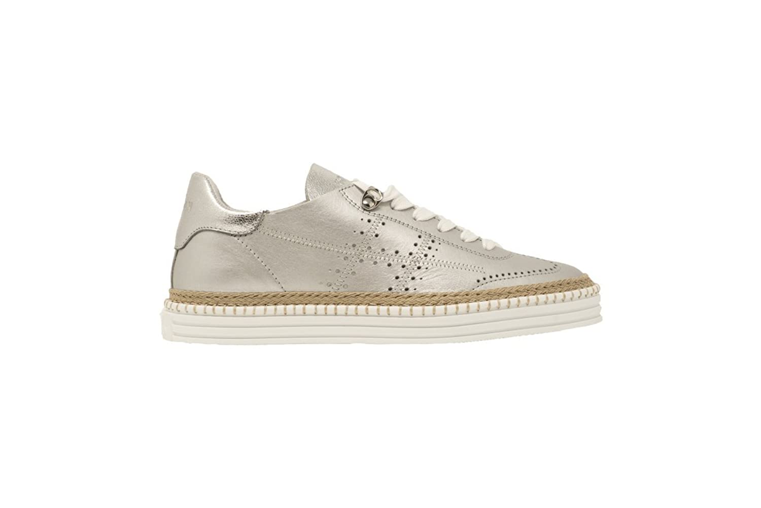 SNEAKERS HOGAN F.DO CASSETTA HXW2600AD30IEUB200 DONNA PELLE ARGENTO