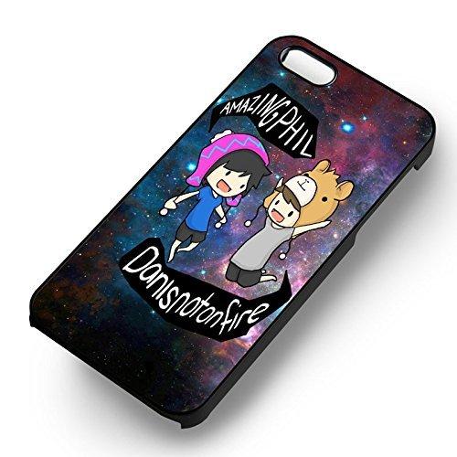 Unique Dan et Phil Cartoon pour Coque Iphone 5 or Coque Iphone 5S or Coque Iphone 5SE Case (Noir Boîtier en plastique dur) Y9Y7EF