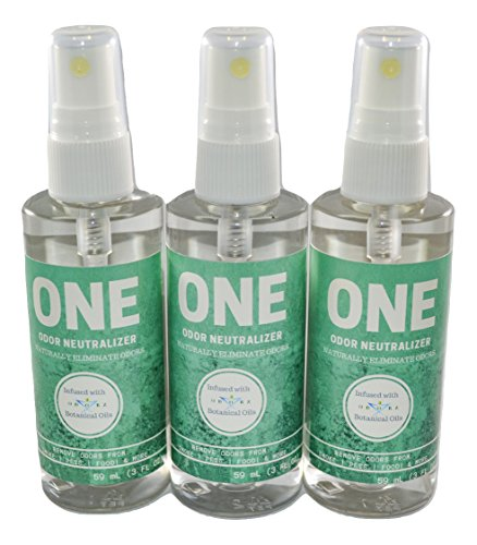 Odor Remover/Neutralizer -3 Ounces Spray Bottle Perfect for, Mildew, Stale Food, pet Odors, Smoke, Tobacco,- REMOVES, NOT Masks - Odors (3)