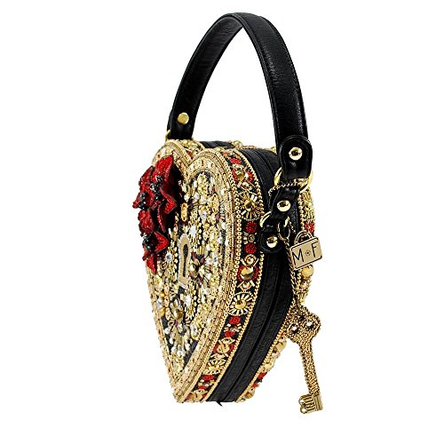 Bag Mary Heart Frances Top Lock Multi Key Handle and Embellished aa8rwS