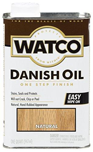 Watco Rust-Oleum A65741 Danish Oil Wood Finish, Quart, Natural