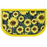 Sweet Home Collection Sunflower Yellow & green Slice Polyester Kitchen Rug - 18'' x 30'', 2 Pack