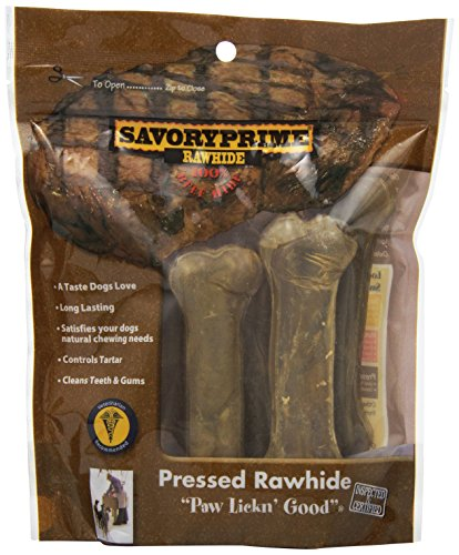 Savory Prime Pressed Rawhide Bone (6 Pack)
