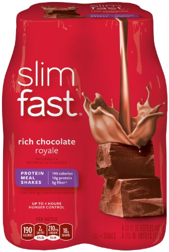 Slim Fast 3-2-1 Rich Chocolate Royale Shake, 10 OZ(Case Contains: 24 Bottles)