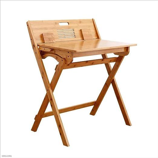 XUERUI Mesas Mesa, De Niños Escritorio Silla Conjunto, Bambú ...