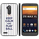 zte zmax phone cases new york - ZTE [Max XL] [Blade Max 3 Z986] [Zmax Pro 2] Soft Mold [Mobiflare] [Black] Thin Gel Protect Cover - [Play Ball - N.Y. City] for ZTE [Max XL] [Blade Max 3 Z986] [Zmax Pro 2] [6