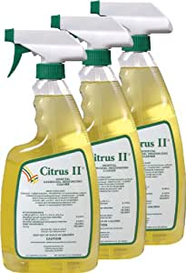 Citrus II Hospital Germicidal Deodorizing Cleaner Spray Citrus, Pack of 3, 22-Ounces Each
