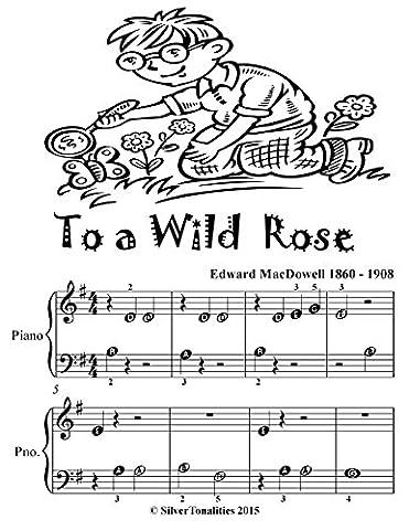 To a Wild Rose Beginner Piano Sheet Music Tadpole Edition (Amazon Digital Sheet Music)