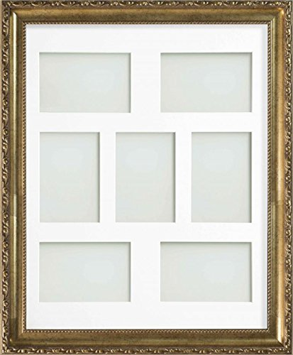 Frame Company Brompton Gold Multi-Aperture Photo Frame with Mount ...