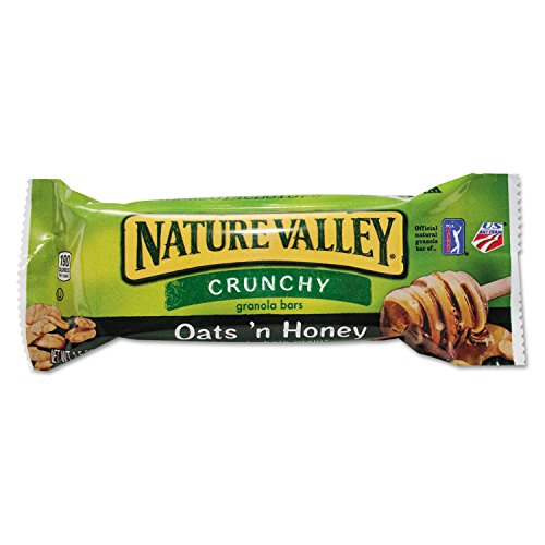 Nature Valley SN3353 Nature Valley Granola Bars, Oats'n Honey Cereal, 1.5oz Bar, 18/Box ()