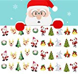 BTArtbox 1 pc Christmas Water Transfer Nail Sticker 3D Nail Decal - Patten Type: Santa Claus, Christmas tree, Snowman - Great for Christmas Gift