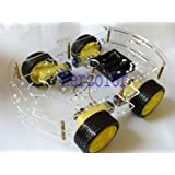 4WD Robot Smart Car Chassis Kits with Speed Encoder DC 3v 5V 6V 4 Drive New