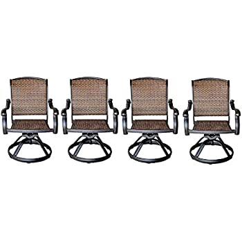 amazon com statesville swivel patio dining chairs 2 pack rh amazon com hampton bay edington swivel patio high dining chairs hampton bay swivel patio chair recall