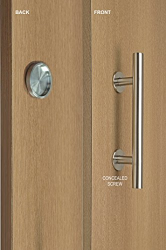 STRONGAR Modern and Contemporary Pull and ROUND Flush Door Handle Set/Commercial/Residential Grade Stainless Steel/Satin Finish ()