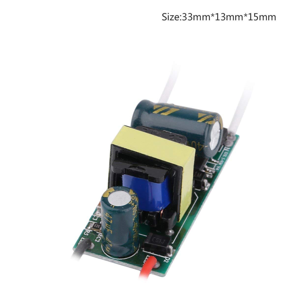 Funnyrunstore Professional Controlador de Placa Base no Resistente al Agua Fuente de alimentaci/ón de Alta Potencia Controlador de Transformador 85-265V180-300mA Tipo: 18-25W // 5/%