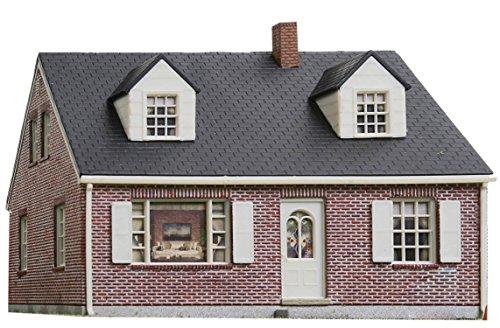 BRICK CAPE COD HOUSE -- KIT - 4-1/4 X 3-5/8 X 3