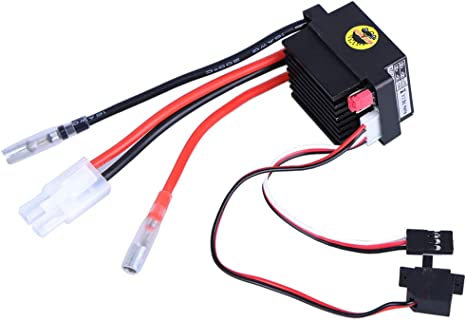 GEZICHTA ESC 320A Brushed Motor Replacement Speed Controller for RC Boat Car High Voltage