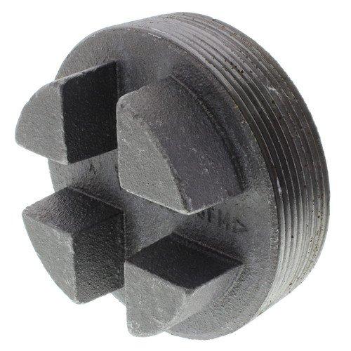 4 inch Black Regular Cored Plug (Bar Head)