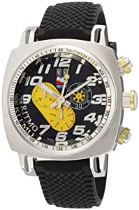 Ritmo Mundo Men's 221 Yellow INDYCAR Series Quartz Chronograph with Stainless Steel Case Watch