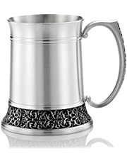 Royal Selangor Hand Finished Classic Expressions Collection Pewter Tankard (L) in Satin Finish