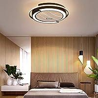 SLZ Ventilador De Techo con Lámpara Redondo LED Creativo con ...
