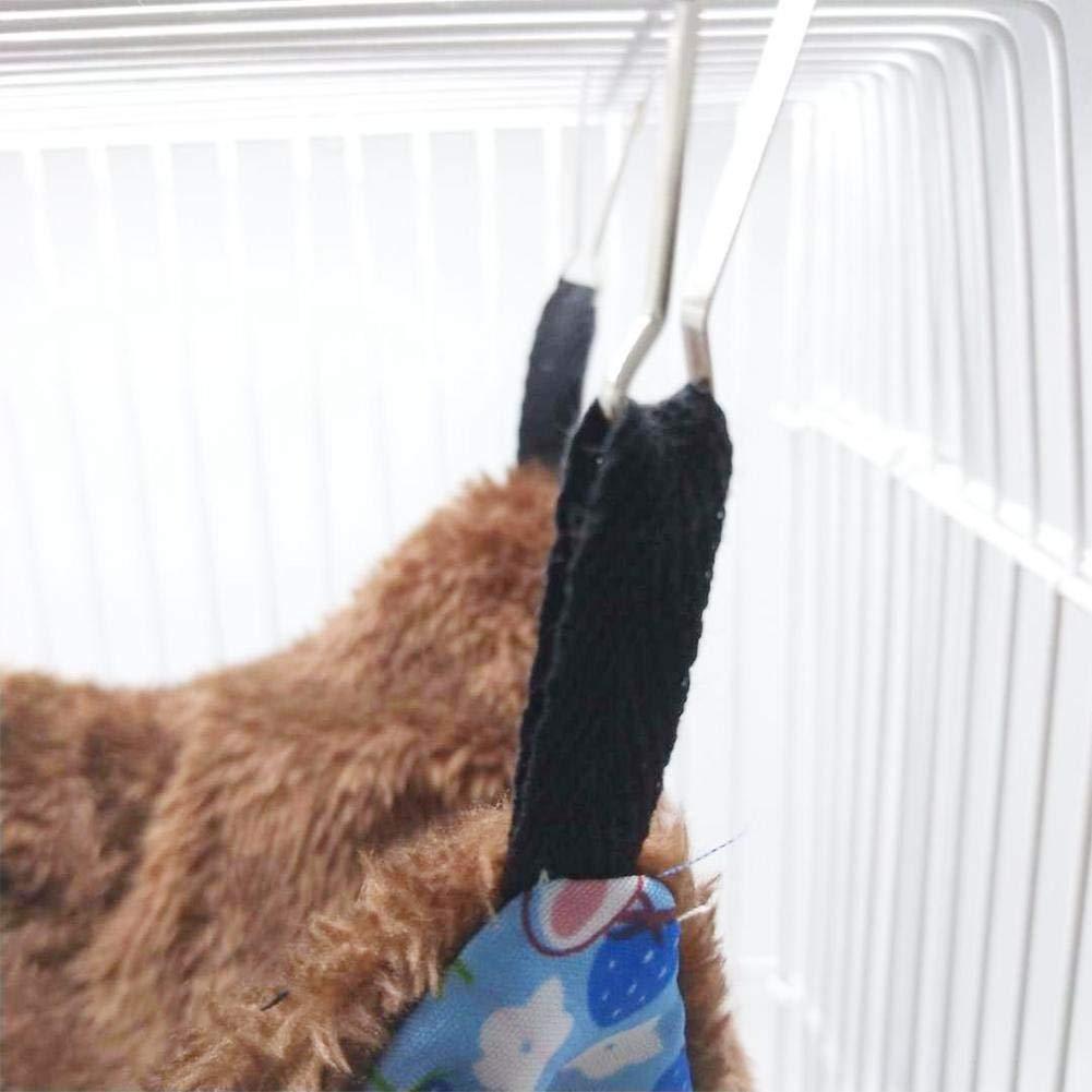 Doble Capa Freedomanoth Hamaca Hamster Invierno Hamaca Chinchilla Cama Colgante para Mascota Peque/ña Hamster Conejo Ardilla Franela Suave Y C/álido