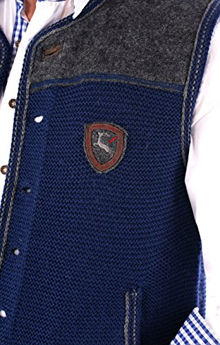 German knitted waistcoat Ramsau SW denimblue by Spieth & Wensky (Image #1)