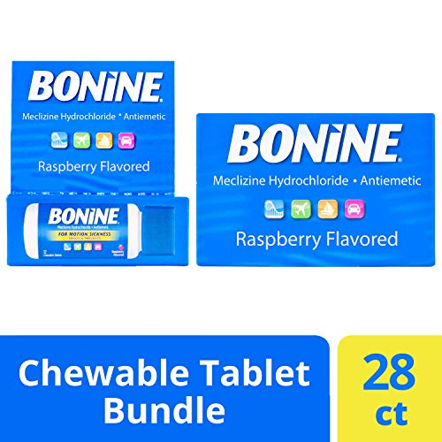 Bonine Motion Sickness Relief Chewable Tablets, Raspberry 16 + 12 ct. (Best Travel Sickness Tablets For Dogs)