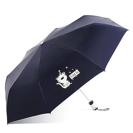 Paraguas plegable automatico Mujer niño Hombre an- Plástico Plegable Negro Plástico Anti-Ultravioleta Repelente