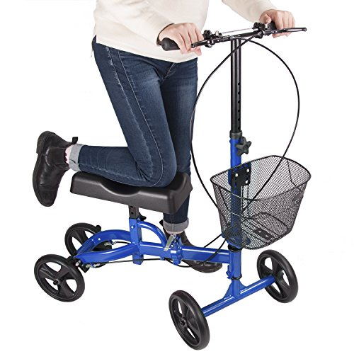 Elevens Steerable Knee Walker with Lockable Brake, Medical Knee Scooter Alternative to Crutches for Broken Leg and Foot Injuries by Elevens (Image #4)