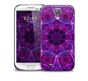 purple kaleidoscope pattern Samsung Galaxy S4 GS4 protective phone case