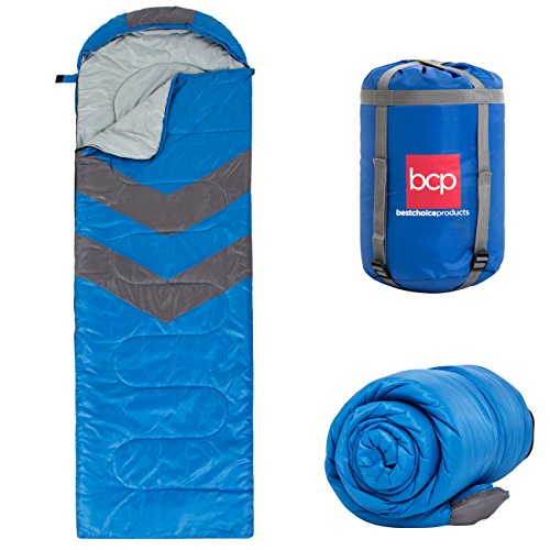 Best Choice Products 4-Season 20F Envelope Sleeping Bag w/Carrying Case,...